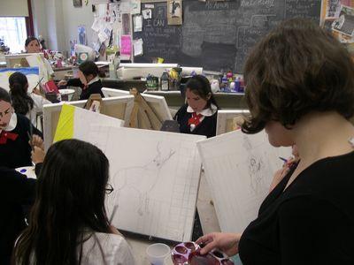 Wk2blog2Marjorie in painting