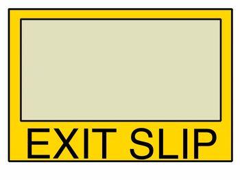 Exit Slip RJR