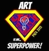 Art is a superpower logo
