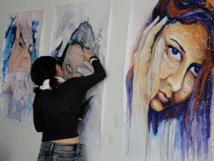 6-Working-on-Growing-Older-paintings