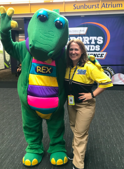 Chapin with Rex at The Children's Museum of Indianapolis