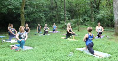 Yoga at Gorgo Fitness Magazine's Camp Gorgo